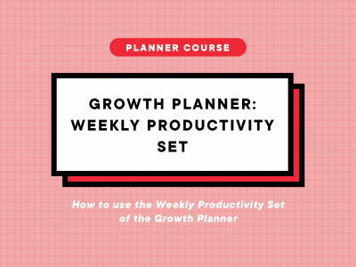 Planning with the Weekly Planner Set (GP1)
